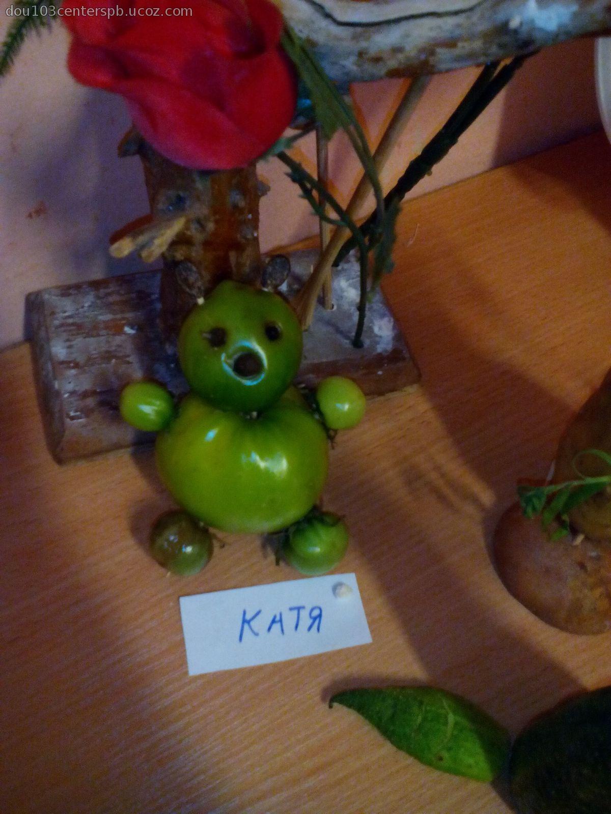 Поделки из овощей и фруктов на тему осень в садик своими руками
